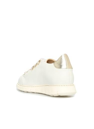 Divarese 5022827 Kadın Deri Sneaker Beyaz